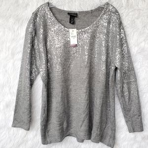 Lane Bryant Foil Ombre Sweater NWT 22